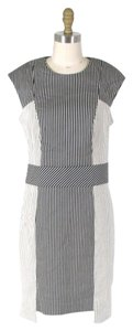 Nicole Miller short dress Black, white Stripes on Tradesy