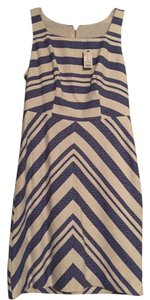 The Limited short dress Blue and white Striped on Tradesy