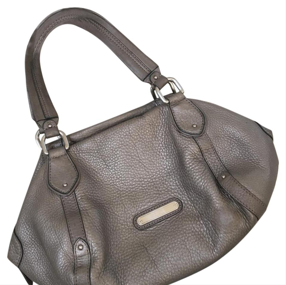 d5377988ea Cole Haan Pewter Purse Silver Leather Satchel - Tradesy