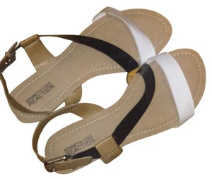 Kenneth Cole Reaction Black white tan Sandals