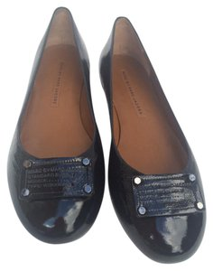 Marc by Marc Jacobs Classic Ballerina Workwear Patent Leather Black Flats