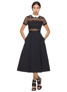 self-portrait Party Night Out Lace Collar Formal Dress