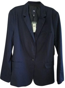 Gap Gap Women's Blazer Navy Size 12 Cotton Blend One-Button Sports Jacket