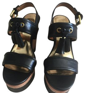 Coach Black and cork Wedges
