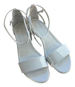 Stuart Weitzman Sandels Low Heel Strappy white Sandals