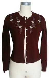Free People Beaded Retro Pin-up Cardigan