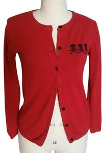 E.C. Star Punk Rockabilly Skull Pin-up Cardigan