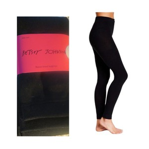 Betsey Johnson Leggins Tights Black Leggings