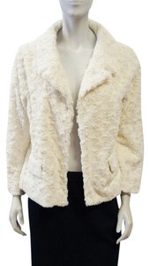 Zenobia New White Fluffy Soft Ivory Jacket