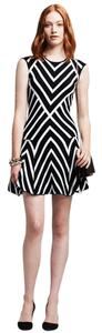 Banana Republic short dress black and white Stripe Knit on Tradesy