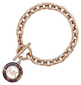 Michael Kors NWT Fulton Toggle Rose Gold-tone Bracelet MKJ5347791