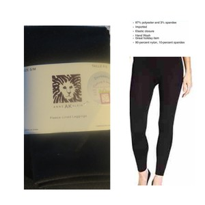 AK Anne Klein Black Ann Fleece Lined Fleece Leggings