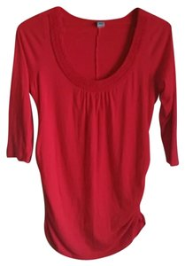 Old Navy Old Navy Red Ruched Maternity Top