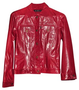 Earl Jean Red Leather Jacket