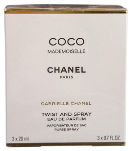 Chanel Coco Mademoiselle Eau de Parfum Twist and Spray Purse Spray (3 x 20ml)