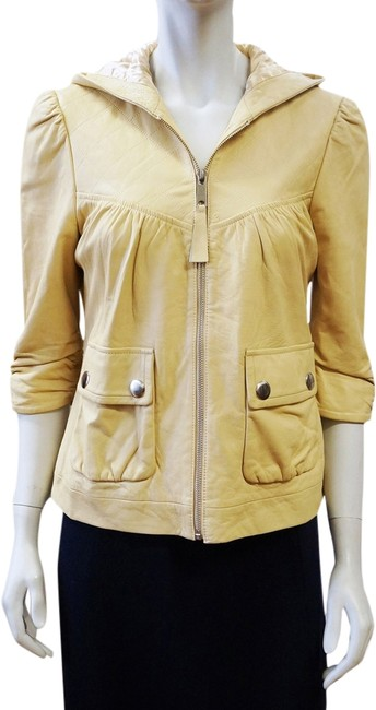Preload https://item1.tradesy.com/images/madison-marcus-beige-34-sleeve-hooded-zip-small-leather-jacket-size-4-s-1970495-0-0.jpg?width=400&height=650