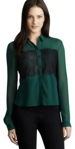 Velvet Heart Button Down Shirt Green