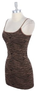 Nikibiki Striped Brown Top Taupe