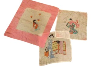 Vintage Japanese Hankies Beautiful Silk Japanese Hankies
