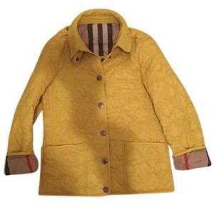Burberry Child Quilted Blue Yellow Jacket