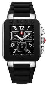 Michele Michele Park Black Silicone Jelly Silver Steel Watch MWW06L000002