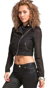 Other Chiffon Military Zipper Military Jacket