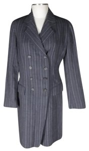 Emanuel Ungaro Pinstripe Double Breasted Career Dress