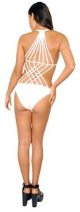 Rehab Strappy Cage Cut-Out White Bodysuit
