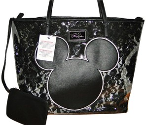 Disney Parks Boutique Mickey Mouse Lace Inset Tote in Black