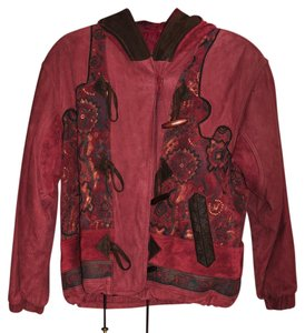 Petite Sophisticate Light red Leather Jacket