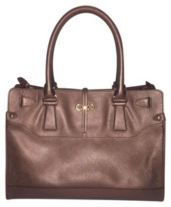 Salvatore Ferragamo Satchel in Metallic Brown