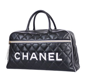 Chanel Travel Luggage Black Travel Bag
