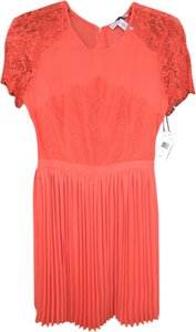 Macy's short dress Bright Coral Lace Orange Red on Tradesy