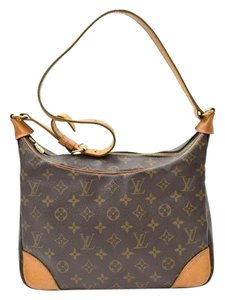 Louis Vuitton Vintage Leather Monogram Hobo Bag