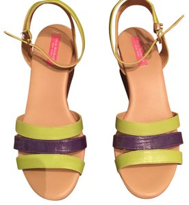 Isaac Mizrahi Green/Purple Sandals