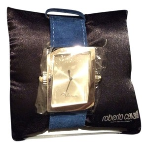 Roberto Cavalli Roberto Cavalli watch with the blue suede belt