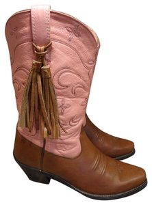 Ariat Brown and pink Boots