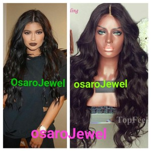 osaroJewel OsaroJewel curly natural black full wig. lace front wig
