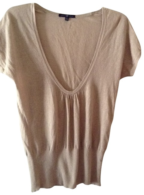 Preload https://item4.tradesy.com/images/gap-tan-linen-and-cotton-knit-blouse-size-4-s-197058-0-0.jpg?width=400&height=650