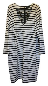 The Limited short dress Black and White Strip Body Con on Tradesy