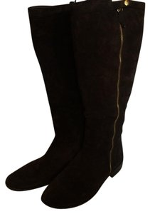 J.Crew Gold Hardware Tall Brown Boots