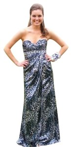 House of Wu Leopard Prom Sweetheart Strapless Dress