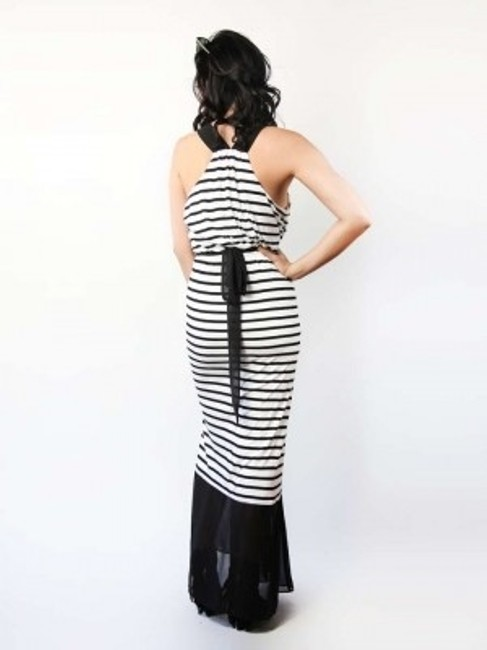 white and black Maxi Dress by Express