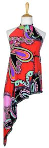 Lisa Nieves Halter Print Paisley Summer Top multicolor