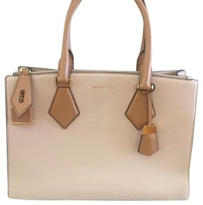 Michael Kors Collection Satchel in Cream