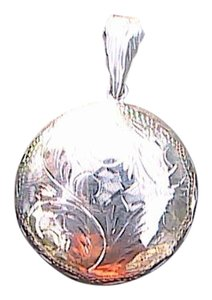 Sterling Silver Reversible Round Swirl Locket Pendant