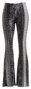 Palazzo Vintage Wide Leg Super Flare Pants Black and White
