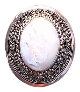 Other Indonesian Sterling Silver Mother of Pearl Brooch