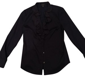 Ann Taylor Button Down Shirt Navy