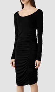 AllSaints short dress Black Bodycon Stretch Midi on Tradesy